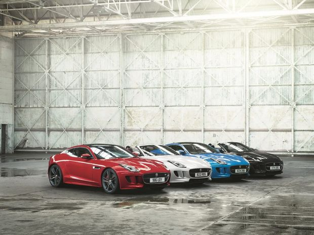 RED, WHITE AND BLUE (AND BLACK): No extra power, but Union Jack colours and style enhancements for Jag's new F-Type British Design Editions. Prices from $166,650.