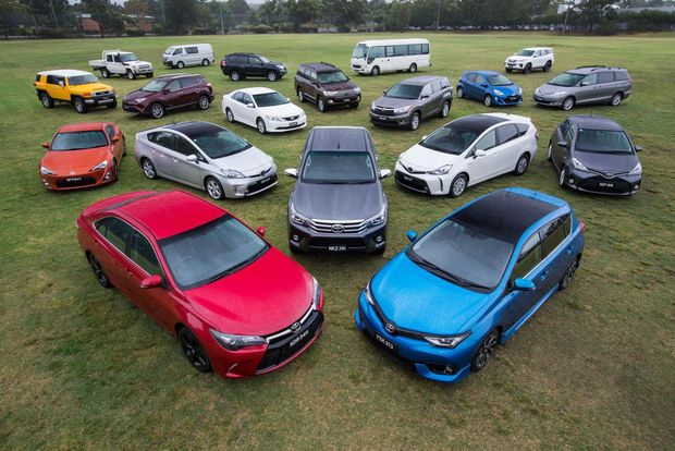 FULL DECK: Toyota scores 13th successive year as brand leader in Australia by sales, with Toyota products coming out top in nine different vehicle segments