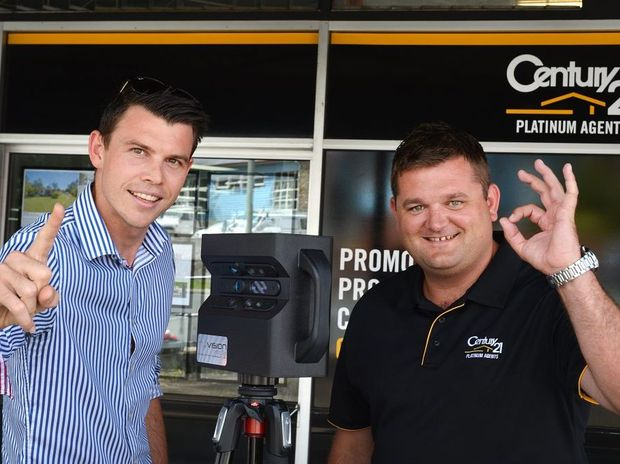 Luke Soanes of Luke Soanes Media and Century 21 real estate agent Billy Mitchell have teamed up to launch a new way of marketing properties.