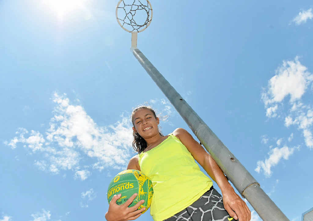EXCITED: Zali Mooney is playing in the Australian Indigenous Schoolgirls Netball Championships.