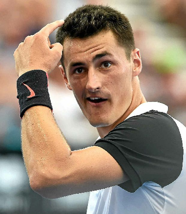 A public feud has erupted between Bernard Tomic (pictured) and Nick Kyrgios.