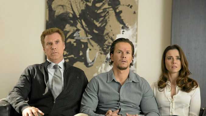 DOUBLE ACT: Will Ferrell, Mark Wahlberg and Linda Cardellini in a scene from the movie Daddy's Home.