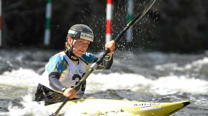 Rosalyn Lawrence upstaged Jessica Fox to win the K1 title at the Australian Slalom Championships.  Photo Contributed
