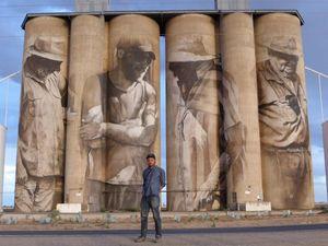 AERIAL VIEW: Spectacular Brim silo artwork