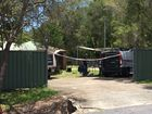 CRIME SCENE: Location where a three-year-old was shot in Morayfield.