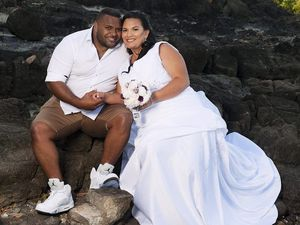 Couple wed in a family-themed ceremony
