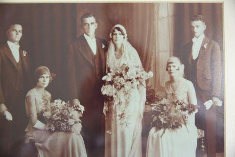 Evelyn Vigor on her wedding day.