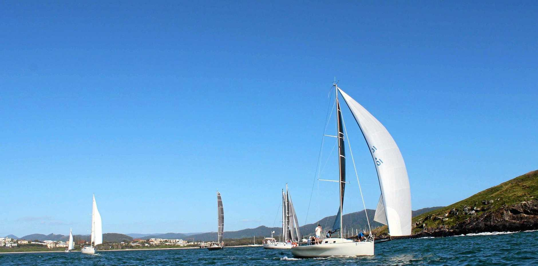 Runaway took line honours winner in the Bartercard Coffs To Paradise Yacht Race.