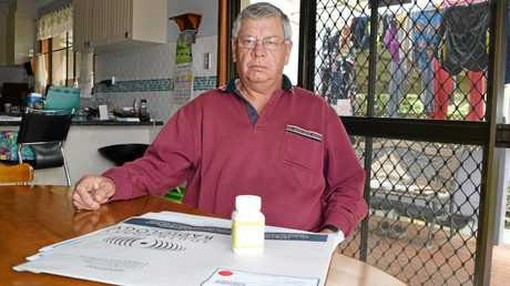 Former Tweed Shire Council plumber Geoff Keevers of Condong came forward with his story after the first TDN report. He developed a rare blood cancer in his early 40s and raised the alarm about unremediated 'black sands' at Mooball with the council in 2001. He wore a Geiger counter on his hip to take recordings for Government reports during the 1983 clean-up.