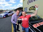 Former police officer Julie Wiseman was surprised to be gifted a hot lap experience at Queensland Raceway presented to her Mayor Paul Pisasale. Photo: David Nielsen / The Queensland Times