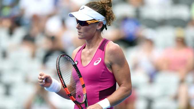 Samantha Stosur celebrates her win. Photo: AAP Image