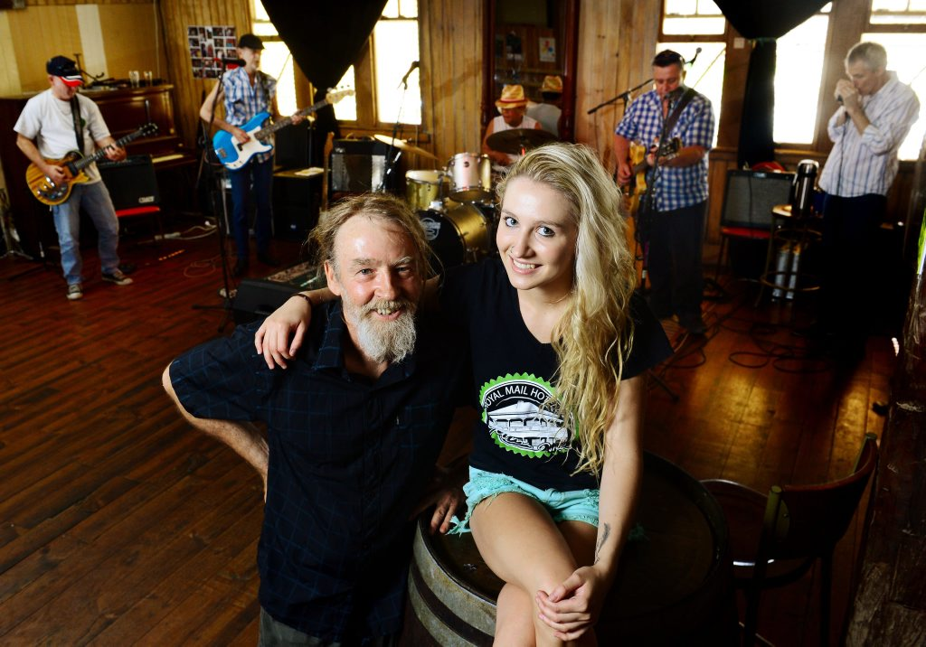 Publican Andrew Cafe and daughter Addie keep the Royal Mail rocking.