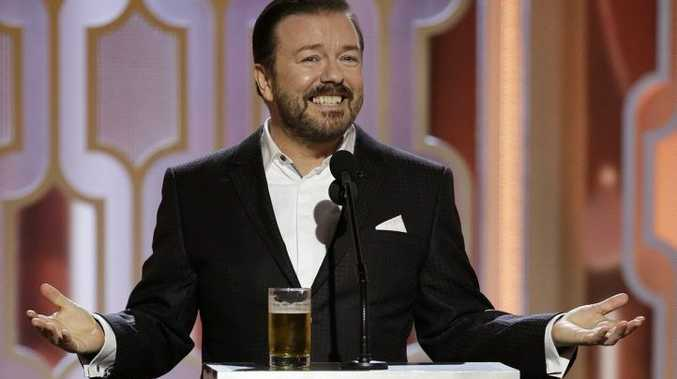 Host Ricky Gervais appears at the 73rd Annual Golden Globe Awards at the Beverly Hilton Hotel in Beverly Hills, Calif.