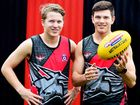 HUNGRY: Tom and Jack O'Connell want to help Hervey Bay Bombers to the AFL Wide Bay premiership.