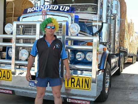 GENEROUS: Paul Gleich from Murgon joined the convoy.