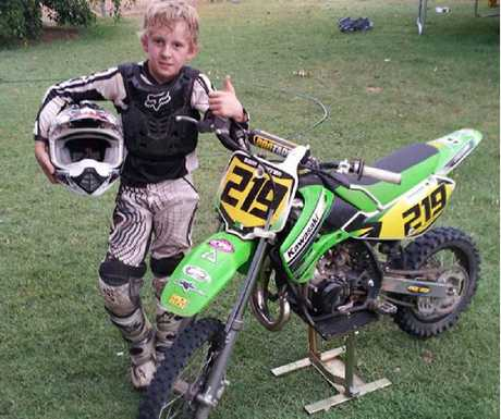 FIGHTER: The Central Queensland region is getting behind 12-year-old Sam Warren who was involved in a motocross crash.