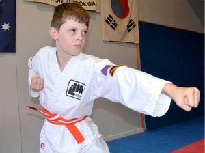 No stopping karate kid Luke Rathjen from getting his belt