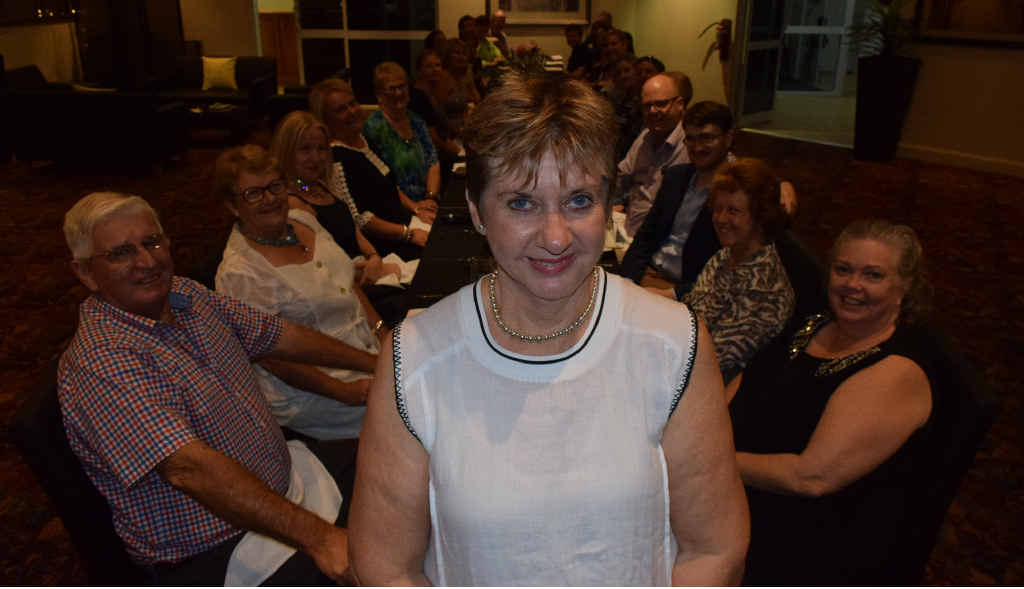 LASTING LEGACY: The Western Star's Mary Bates, pictured here at her farewell party on Friday night, will say goodbye to the newspaper after 49 years on Friday.