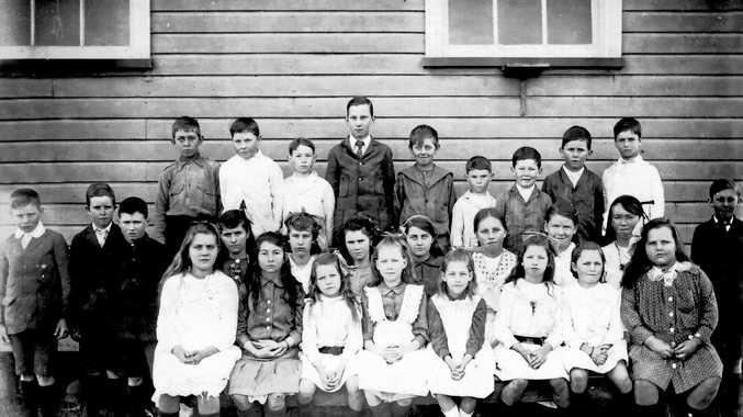 CLASS MATES: Upper North Creek School students, c.1918.