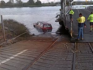 Man strips naked after car crashes into Clarence River