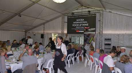 at the Noosa Food and Wine Festival for the Cobram Estate olive oil tasting. Photo: John McCutcheon / Sunshine Coast Daily