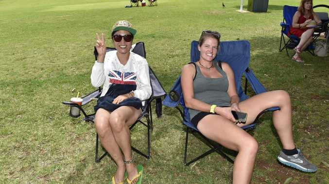 LAZY DAYS: Yeong La from Korea and Patrica Raulf from Germany relax in Laurel Bank Park