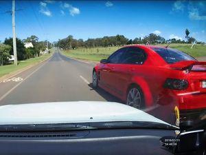 DASHCAM: 'Idiot' Holden driver revs past L-plater