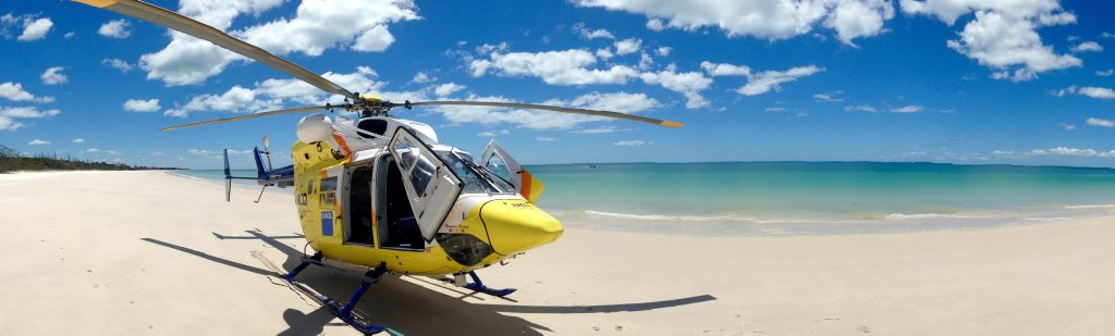 Upon completion of their mission, the crew were re-tasked to Coongul Creek, on Fraser Island's western coast, where a woman in her 60s had succumbed to a medical condition.