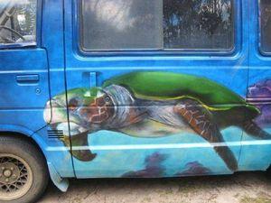 Agnes artist prefers painting vans over canvas