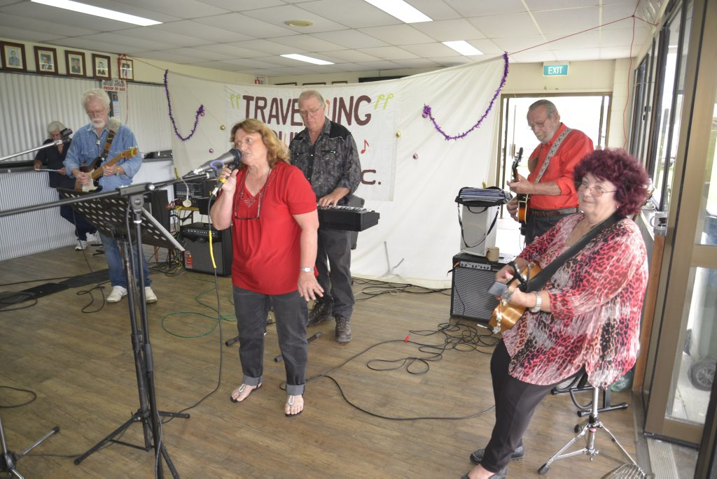 Some of the entertainers at the Travelling Country Music Club Social.