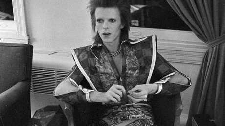 This is a Dec. 1, 1972 file photo of David Bowie in his Ziggy Stardust period pictured in Philadelphia. Bowie, the other-worldly musician who broke pop and rock boundaries with his creative musicianship, nonconformity, striking visuals and a genre-bending persona he christened Ziggy Stardust, died of cancer Sunday Jan. 10, 2016. He was 69 and had just released a new album.