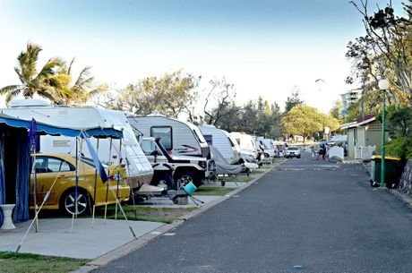 Mooloolaba Beachfront Caravan Park residents meets to discuss the possible closure of the park. Photo: Warren Lynam / Sunshine Coast Daily