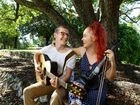 Becc Holdorf, originally from Boonah, and Tom Dietrich are preparing to release their first EP titled Twenty Fifteen. Photo: Rob Williams / The Queensland Times