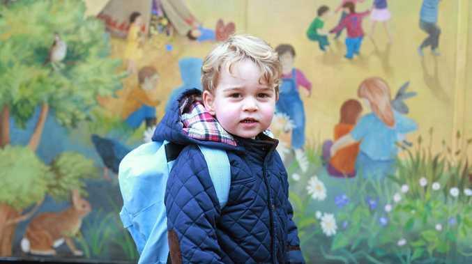 Prince George begins his social education at a Montessori nursery school.