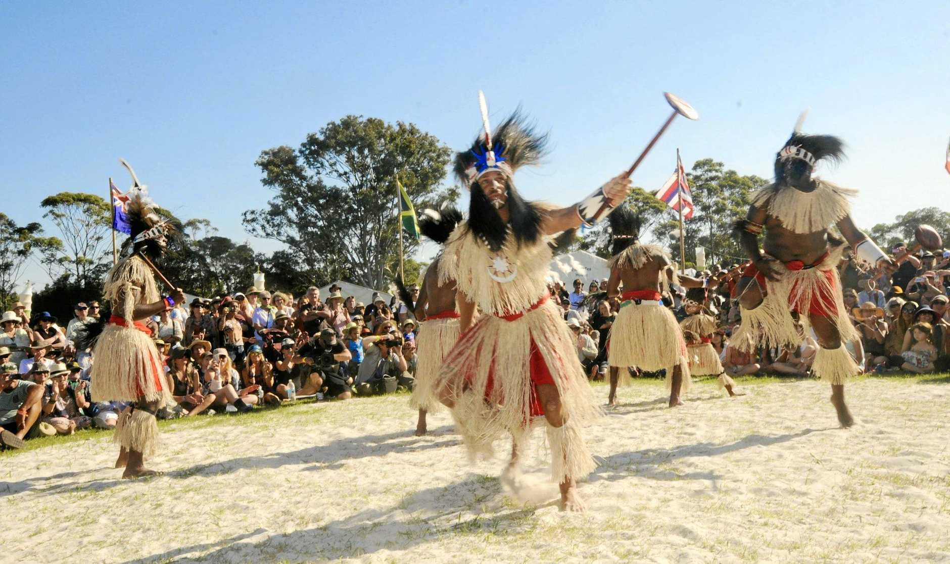 CULTURE: Malu Kiai Mura Buai Dance Troupe performs at the Boomerang Festival in 2013.