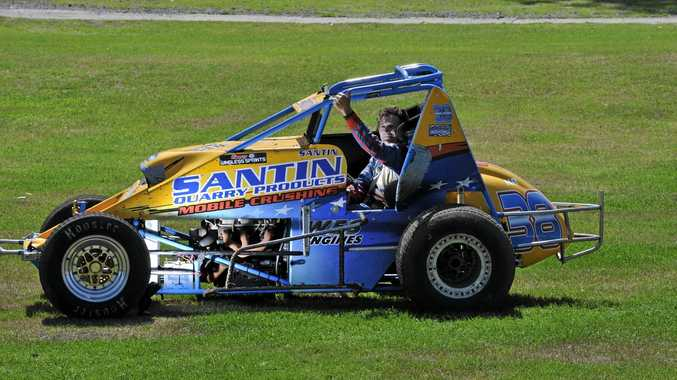 Lismore driver Mick Santin is among the locals racing in the the Wingless Sprintcar Australian Grand Prix this weekend.