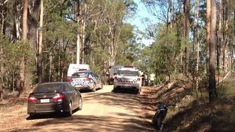 A Motorbike rider has died after a crash on the Bruce Hwy south of Maryborough on Wednesday afternoon.