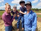 CATTLE SALE: Paul and Kelli Forman and children Mila and Maddox are excited about holding their first ever sale of limousin cattle. Photo: Max Fleet / NewsMail