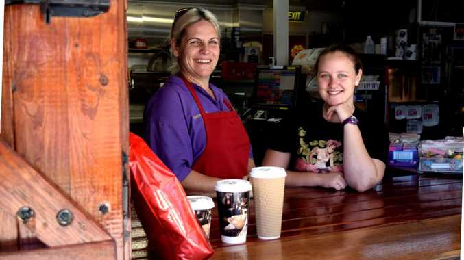 Maple Drive Mini Mark, Andergrove, owner Sherelle Vincent and Maranda Moffat speak of store upgrade for coffee and fish and chips take away to improve business. Photo Louise Starkey / Daily Mercury