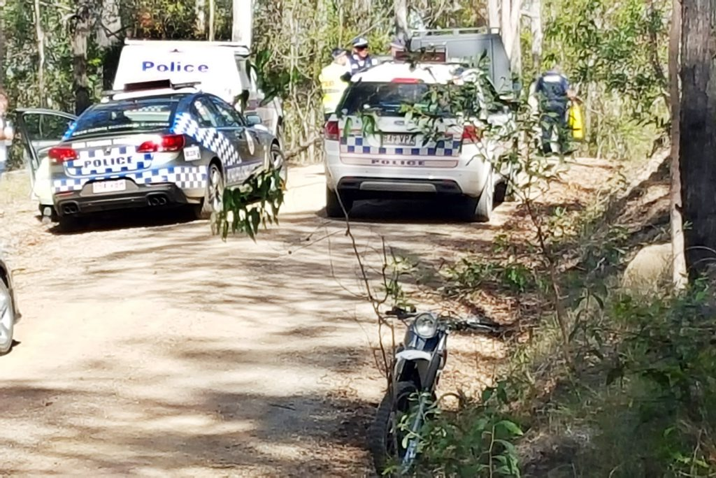 A trail bike ride is dead after a crash with a 4WD near Maryborough