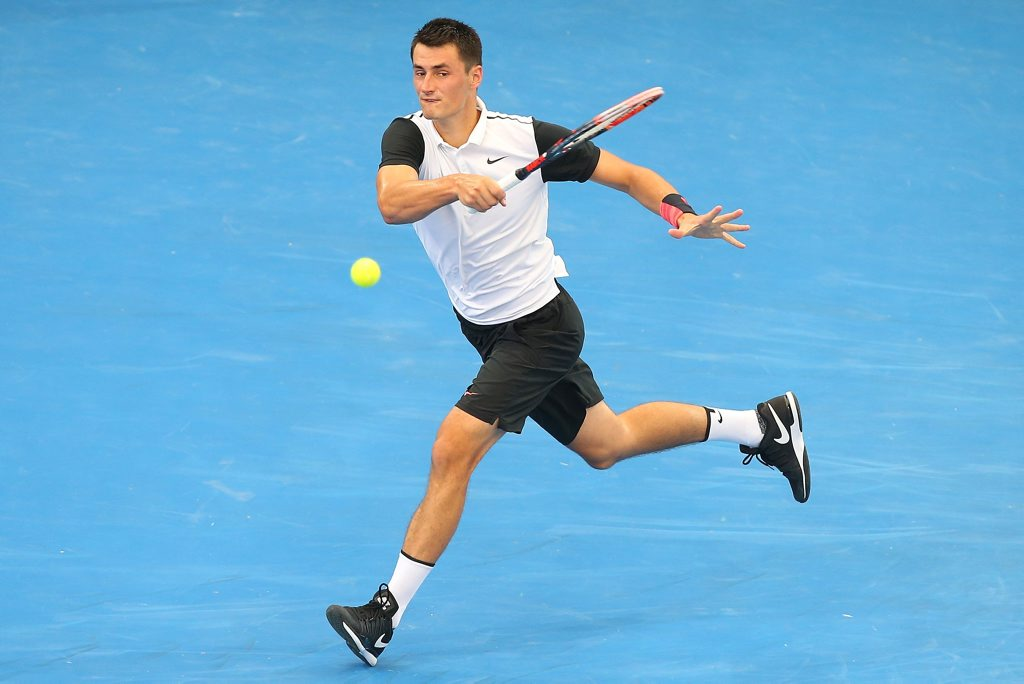 Bernard Tomic faces a fourth-round clash with Andy Murray at the Australian Open. Photo: AAP Image.