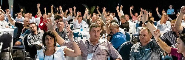 HAVE A SAY: Delegates contributing at Trucking Australia in previous years.