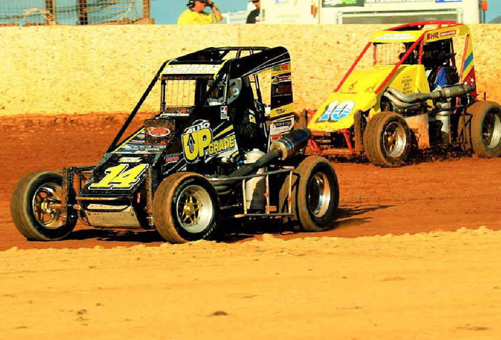 STATE'S BEST: Michael Harders claimed the Queensland Speedcar Title following a brilliant drive at Bundaberg's Carina Speedway.
