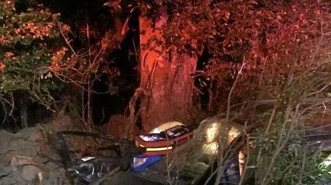 Car crash outside Maclean 13-01-16