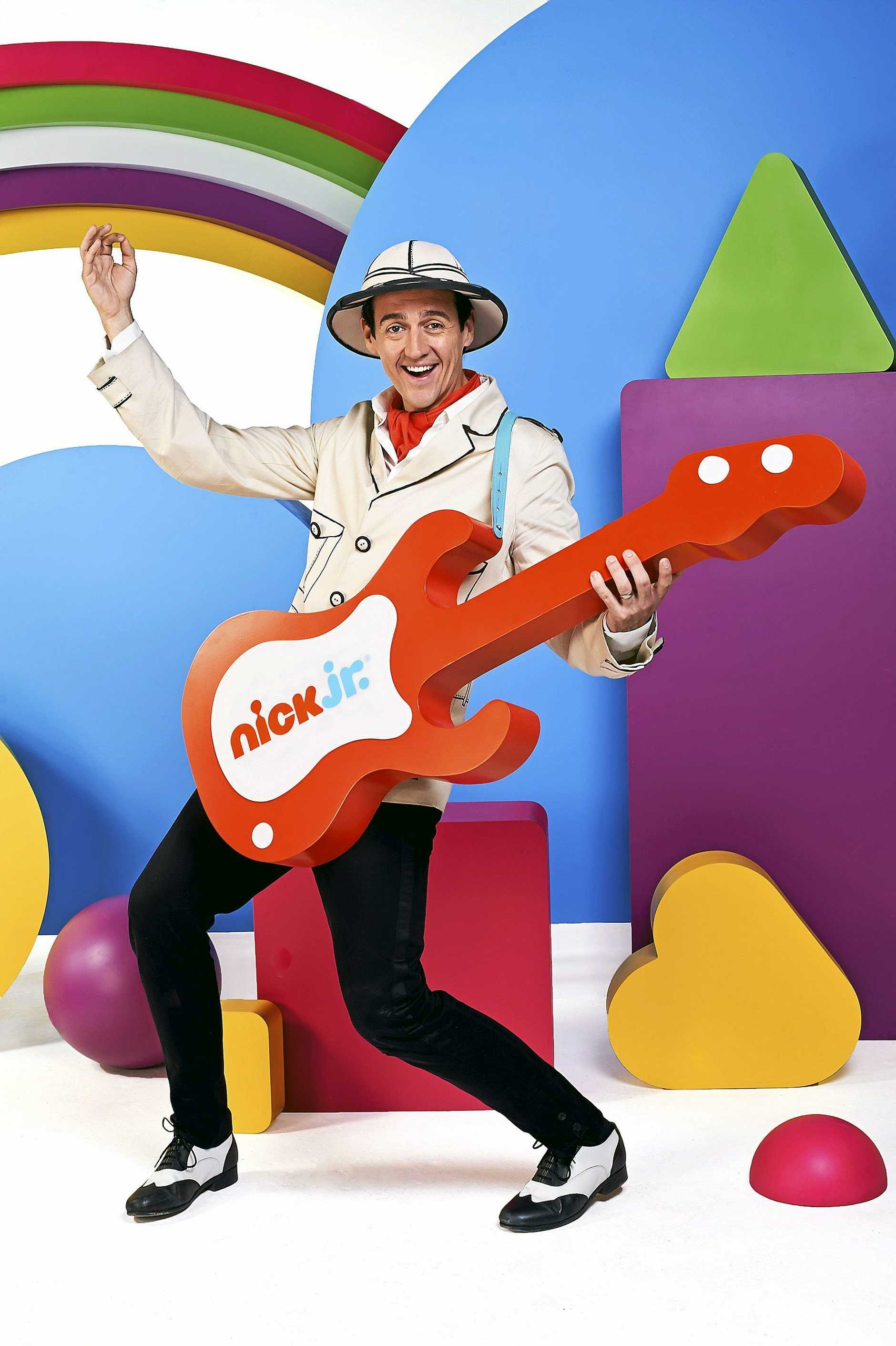 FUN: Sam Moran, the former Yellow Wiggle, hosts his own TV series, Play Along With Sam, on Nick Jr.