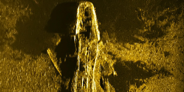 In this sonar image released by Australian Transport Safety Bureau a shipwreck can be clearly seen on the ocean floor off the coast of Australia.