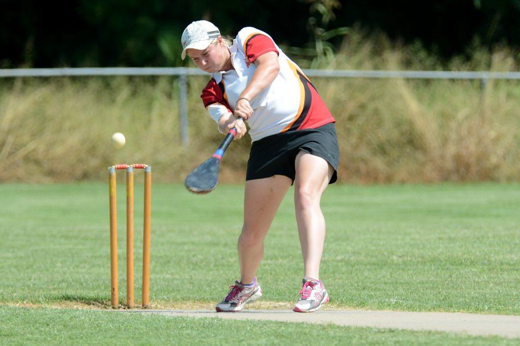 Vigoro grand final at East Ipswich. TC United versus Sports. TC batsman Clare Gillette. Photo: Kate Czerny / The Queensland Times