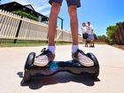 Matthew Wood, 14 with his Hoverboard. Photo: John McCutcheon / Sunshine Coast Daily