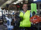 BARGAIN BUYS: Cr Vince Habermann with a few of the items available at the recycled goods shop at the Bundaberg tip. Photo: Mike Knott / NewsMail