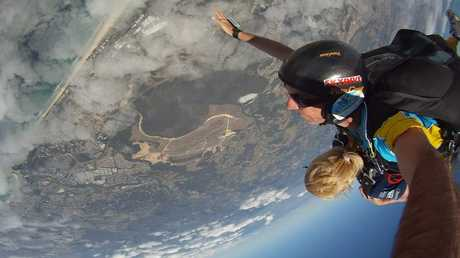 Personal trainer Tracey Moore, 53 skydiving two years ago